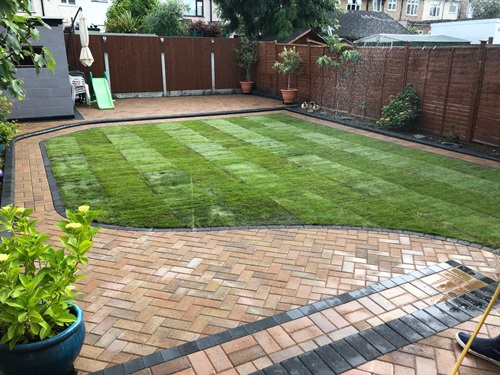 Garden landscaping and turfing in North London
